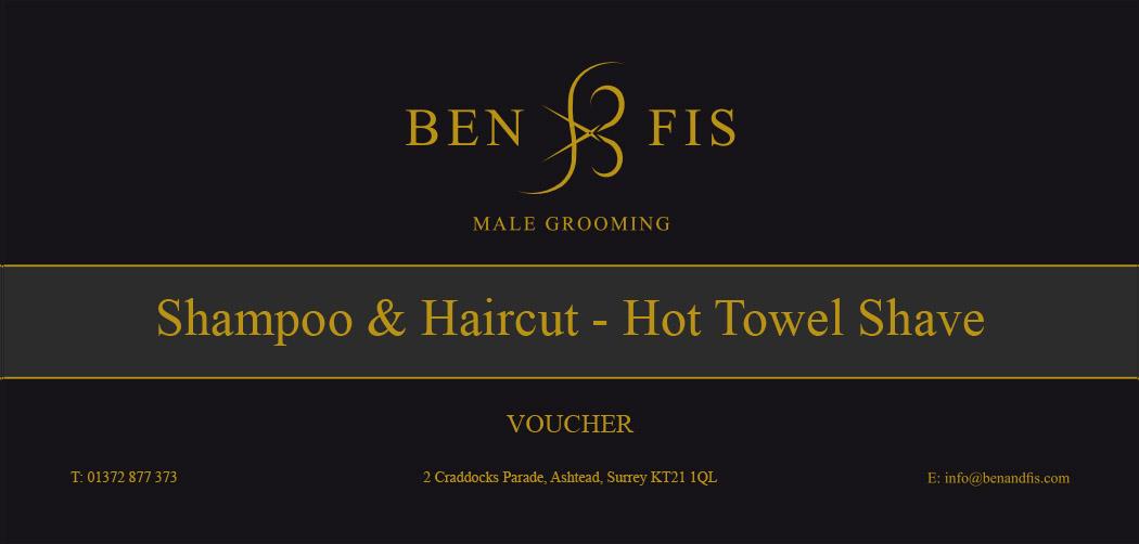 Haircut & Wash Hot Towels